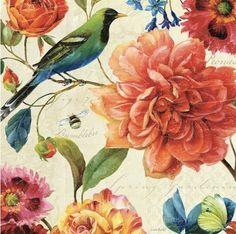 Lisa Audit - Rainbow Garden II - Cream