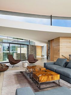home perched on a cliff with ocean views 6 - contemporary living room