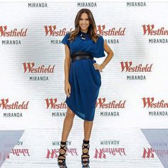 Kyly Clarke wearing shoes from Freelance Shoes during her Westfield Miranda appearance in September 2015.  Store: Freelance Shoes Brand: Siren Style: KANYE Colours: Black and Beige Link: http://freelanceshoes.com.au/catalogsearch/result/?q=kanye
