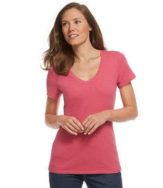 Women's West End Fitted Tee, Short-Sleeve V-Neck | Free Shipping at L.L.Bean