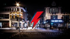 A crowdfunding campaign to bring a lightning-bolt statue in memory of David Bowie to Brixton aims to raise just under in 28 days. David Bowie Lightning Bolt, Aladdin Sane, Rockn Roll, Brixton, How To Raise Money, Installation Art, Art World, Campaign, Construction