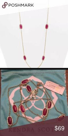 Kendra Scott Kelsie Necklace in Purple/Gold color New gorgeous necklace from Kendra Scott! Comes with the KS pouch too. Makes a great gift 🎁 Kendra Scott Jewelry Necklaces