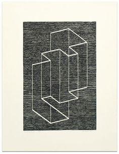 Josef Albers Multiplex B, 1948 Woodcut