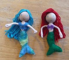 Wooden bendy figures tutorial - fairies and mermaids, oh my!