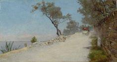Adolfo Tommasi (Livorno, 1851 – Firenze, 1933) La diligenza di Castiglioncello, 1880-1885