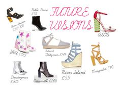 fUTURE VISIONS by wownails on Polyvore featuring River Island, Stuart Weitzman, Missguided, Public Desire, Acne Studios, Dorateymur and ASOS