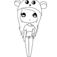 geek girl template chibi in 2018 drawings chibi girl cute drawings