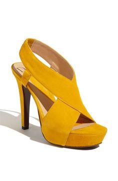 Yellow? Yes please! Diane von Furstenberg 'Zia' Platform Sandal
