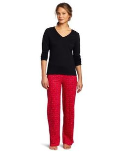 Intimo Women's Comfy Knit 2 Piece Set Intimo. $16.00. Long-sleeve, V-neck top. Made in India. Intimo's Comfy Knit 2-Piece set boasts a solid top and darling printed pants in soft cotton for sweet dreams.. Drawstring pants. 100% cotton. Machine Wash