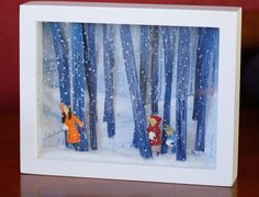 diorama ideas Diorama by Alana Aceves Shadow Box Kunst, Shadow Box Art, Fun Crafts, Crafts For Kids, Paper Crafts, Tableaux Vivants, Creation Deco, Paper Illustration, Winter Art