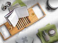 #homedecor #interiordesign #decoration #bathroom #bathroomdecor Bath Caddy, Interior Design, Bathroom, Modern, Decoration, Home Decor, Home Decor Ideas, Bamboo, Suitcase