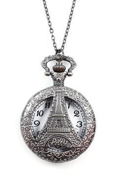 Eiffel Tower Pocket Watch Pendant Necklace by Eye Candy Los Angeles on @nordstrom_rack