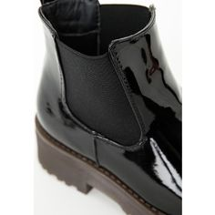 Rubber Sole Chelsea Boots Black Patent - Shoes - Boots - Missguided