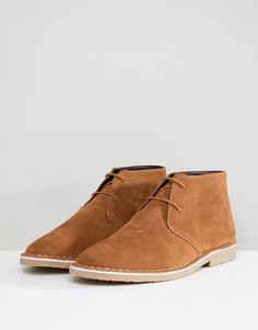 ASOS Desert Boots In Tan Faux Suede - Tan