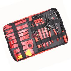 Pry Installer Tool for Car Vehicle Audio Video Dashboard Door Panel Without Bag X-Things 13 Pcs Premium Auto Trim Removal Tool Kits with Fastener Hose Remover