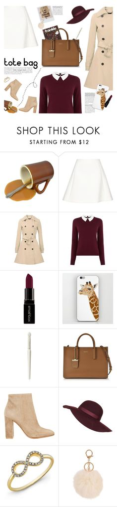 """dkny tote bag"" by jesuisunlapin ❤ liked on Polyvore featuring Neil Barrett, Oasis, Smashbox, Paul & Joe, DKNY, Gianvito Rossi, Topshop, Anne Sisteron, Armitage Avenue and CasualChic"