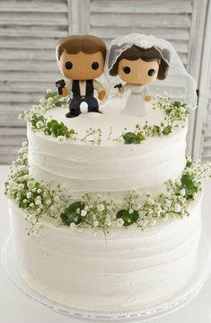 Batman Wedding, Geek Wedding, Plan My Wedding, Wedding Cake Toppers, Dream Wedding, Wedding Ideas, Make Your Own Wedding Cakes, Wedding Cakes With Cupcakes, Carl Y Ellie