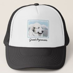 Great Pyrenees Trucker Hat - accessories accessory gift idea stylish unique custom