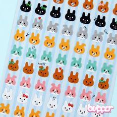 Mind Wave Stickers - Bunnies - Stationery   Blippo Kawaii Shop
