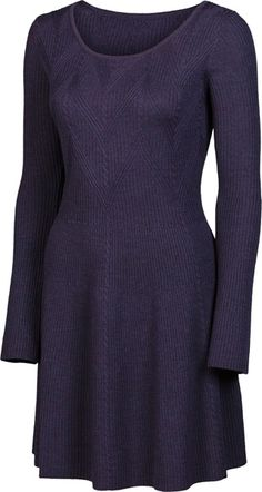 "SWEET VALENTINE | 34"" Textured Dress | Merino | color: Aubergine | $218 | www.krimsonklover.com"