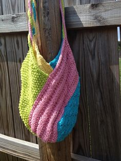 Hand Knit 100% Cotton Windmill Bag by EmasKnitd on Etsy, $20.00
