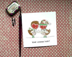 Christmas Card, Couple Christmas, Robin Christmas , Mr and Mrs, Robin Card, Daughter and partner card, Son and partner card, Mum and dad by BEEautifulcreatures on Etsy