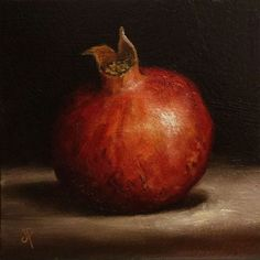 Pomegranate Original Oil Painting still life by Jane Palmer by JanePalmerArt on Etsy