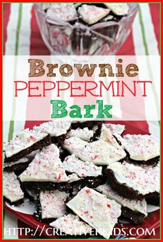 Delicious and easy recipe for Christmas:  Brownie Peppermint Bark.  The Brownie cuts the candy sweetness, and the peppermint is not overpowering.  It's the perfect combination!