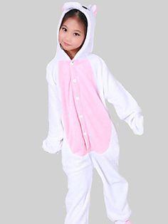 Licorne rose flanelle enfants Kigurumi pyjama