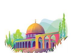 Islamic Art Pattern, Pattern Art, Wallpaper Ramadhan, Mosque Vector, Palestine Art, Banner Design Inspiration, Islamic Cartoon, Cute Wallpaper For Phone, Cartoon Wallpaper