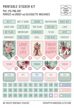 Planner Stickers - Optimize Your Potential Using These Hot Personal Time Management Tips Free Planner, Budget Planner, Happy Planner, Blog Planner, Printable Planner Stickers, Journal Stickers, Planners, Note Paper, Washi
