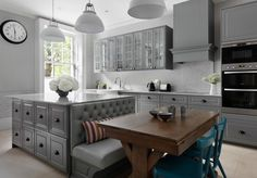 20 ideas kitchen table built in bench banquet seating for 2019 Kitchen Island Bench, Popular Kitchen Colors, Kitchen Island Table, Kitchen Interior, Popular Kitchens, Kitchen Island Design, Kitchen Seating, Kitchen Island Decor, Kitchen Layout