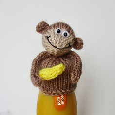 Go bananas for the #BigKnit for #AgeUK The pattern for my monkey hat for innocent smoothies is free from the Etsy UK blog at http://blog.etsy.com/uk/2017/01/23/innocent-big-knit/