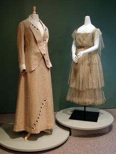 From the Kent State Museum: Suit, ca. 1910-1914, dress c. 1916