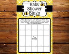 Who Knows the Mom to Bee Best Baby Shower Game by RansburyDecor