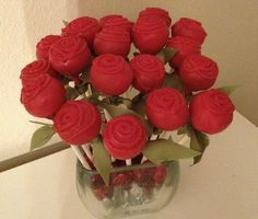 Mother's Day Cake Pops Roses Cake Pops by Dolcecreativesweets, $26.00