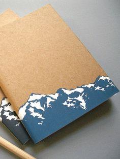 Un carnet en papier recyclé