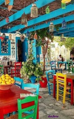 Ideas Boho Patio Ideas Decor For 2019 Bohemian House, Bohemian Decor, Outdoor Cafe, Outdoor Restaurant, Outdoor Decor, Restaurant En Plein Air, Cafe Design, House Design, Restaurant Design