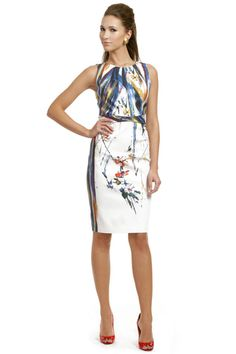 I love the idea of a hand-painted dress. Partly because I have so many talented friends who could definitely do something like this... (Elie Tahari Sheath)