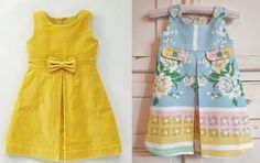 Infantil: Vestido com prega fêmea | molde, corte e costura – Marlene Mukai