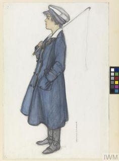 A Bus Conductress, 1919