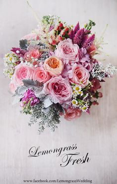 www.facebook.com/LemongrassWedding Wedding Flower Arrangements, Floral Arrangements, Wedding Bouquets, Wedding Flowers, Hand Tied Bouquet, All Flowers, Flower Boxes, Beautiful Roses, Flower Designs