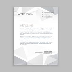 Gray scale letter head design | Graphic View |