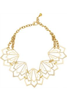 Lulu Frost Portico gold-plated crystal necklace   NET-A-PORTER