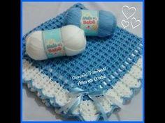 Manta para bebé en crochet o ganchillo - YouTube                                                                                                                                                                                 Más