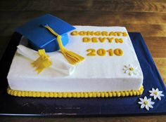 High School Graduation Cakes  | high school grad cake my second grad cake new challenges with this cap ...