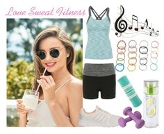 """""""My Fitness Routine"""" by calibeachlyfe ❤ liked on Polyvore featuring Lucy, adidas, Dorothy Perkins, Valeo, Music Notes and NOVICA"""