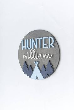 Personalized Round Sign with Teepee, Wood Nursery Name Sign, Modern Nursery Decor, Woodland Nursery, Scandi Teepee Tree Nursery Sign Teepee Nursery, Wood Nursery, Modern Nursery Decor, Nursery Name, Woodland Nursery Decor, Nursery Wall Art, Nursery Ideas, Wooden Name Signs, Baby Name Signs