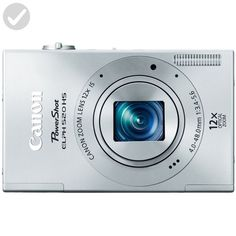 Canon PowerShot ELPH 520 HS 10.1 MP CMOS Digital Camera with 12x Optical Image Stabilized Zoom 28mm Wide-Angle Lens and 1080p Full HD Video Recording (Silver) - Photo stuff (*Amazon Partner-Link)