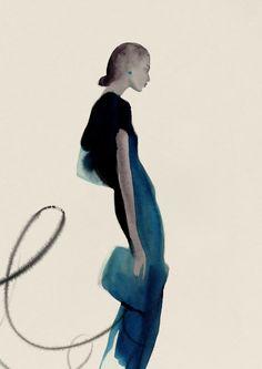 Fashion illustrator Cecilia Carlstedt. Ink watercolor crayon. Illustratrice de mode Illustrations dessinées à la main. Encre aquarelle. Nina Ricci H&M Lancôme LVMH